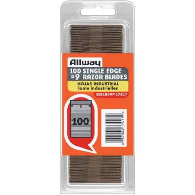 0.009 in. Single Edge Blades (100-Pack)