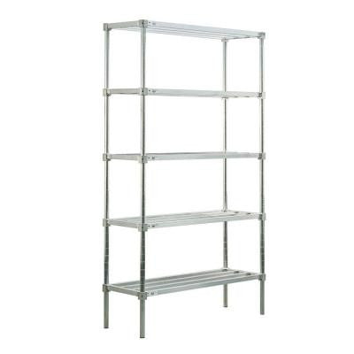 5-Shelf Aluminum Heavy Duty Style Adjustable Shelving