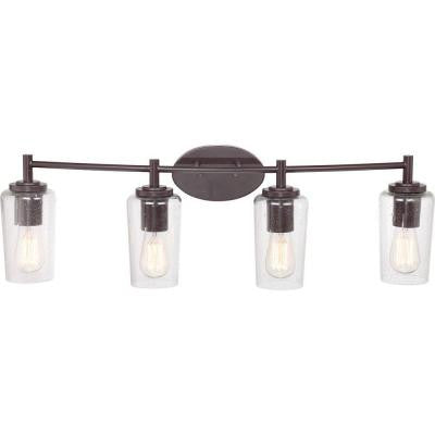Edison 4-Light Western Bronze Bath Light