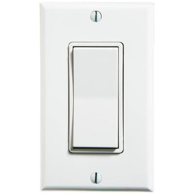 Self-Powered Wireless Push On/Off Remote Switch - White
