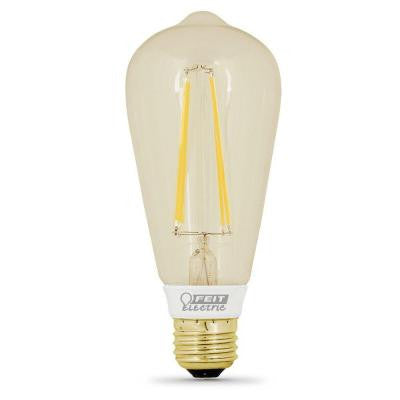 Vintage Style 60W Equivalent Soft White ST19 Dimmable LED Light Bulb (12-Pack)