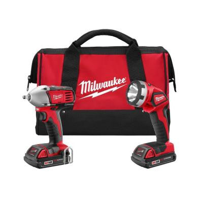 Reconditioned M18 18-Volt Lithium-Ion Cordless Compact Impact Wrench/Light Combo Kit (2-Tool)