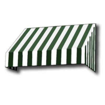 5 ft. New Yorker Window/Entry Awning (56 in. H x 48 in. D) in Forest / White Stripe