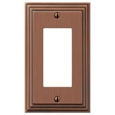 Steps 1 Decora Wall Plate - Antique Copper