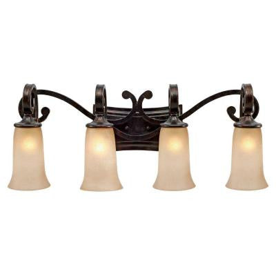 Padma Collection 4-Light Fired Bronze Bath Vanity Light