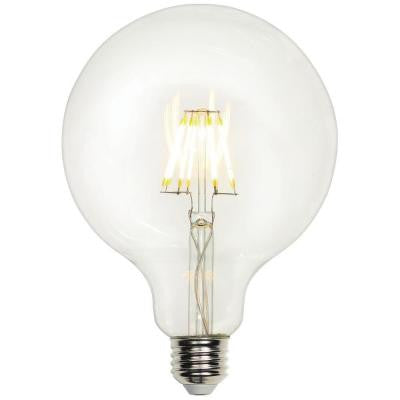 40W Equivalent Soft White G40 Globe Medium Base Dimmable Filament LED Light Bulb