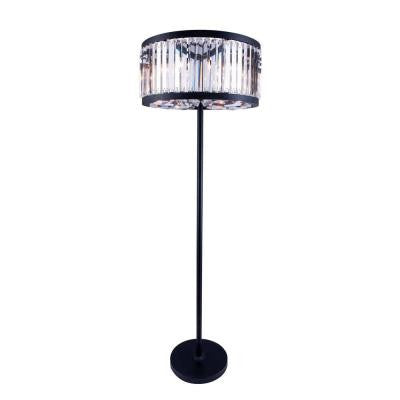 Chelsea 72 in. Mocha Brown Floor Lamp with Clear Crystal