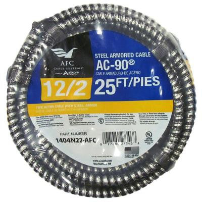 25 ft. 12-2 Solid BX/AC-90 Cable