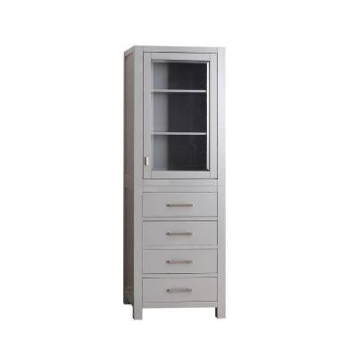 Modero 24 in. W Linen Tower in Chilled Gray