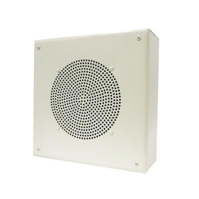 8 in. Amplified Ceiling Speaker with Square Grille