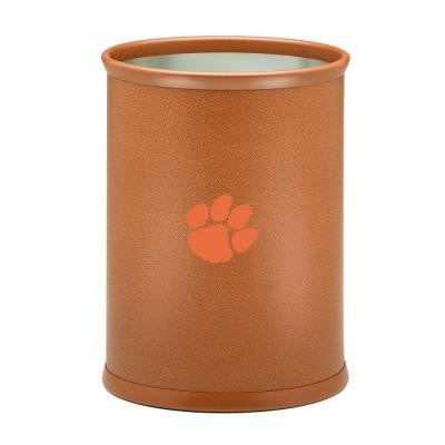 13 in. Clemson Basketball Texture Oval Trash Can