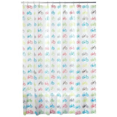 72 in. x 72 in. Bikes Shower Curtain in Multi Colored