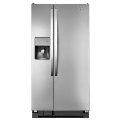 33 in. W 21.2 cu. ft. Side by Side Refrigerator in Monochromatic Stainless Steel
