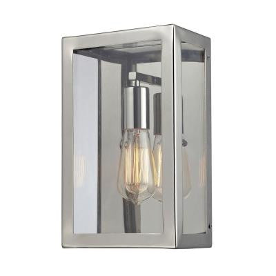 Parameters-Nickel 1-Light Beige Sconce