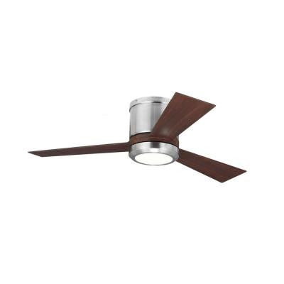 Clarity II 42 in. Brushed Steel Ceiling Fan with 3-Blade