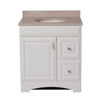 Providence 30 in. Vanity in White with 31 in. Colorpoint Vanity Top in Maui
