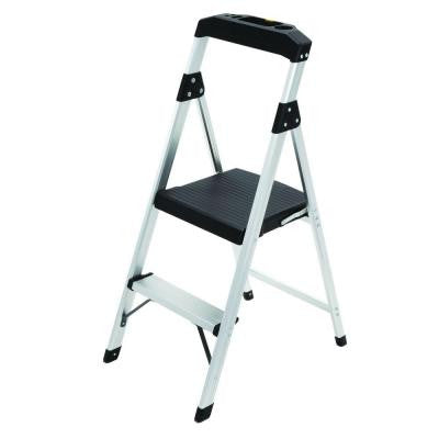2-Step Aluminum Step Stool Ladder with 225 lb. Type II Duty Rating