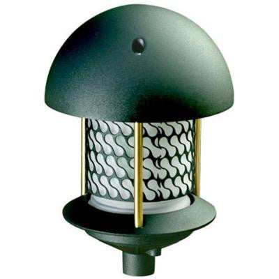 Corbin 1-Light Green Round Top Outdoor Pagoda Pathway Light