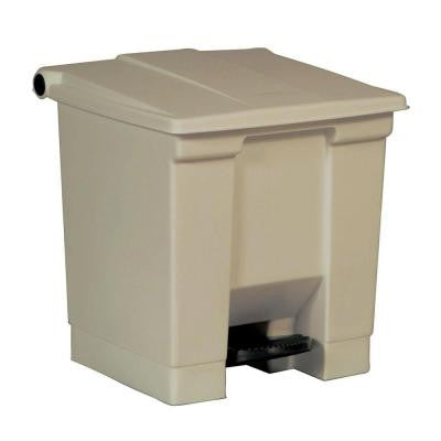 8 Gal. Beige Fire-Safe Step-On Trash Can