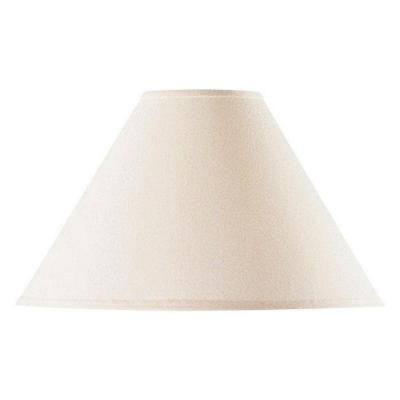 17 in. Off White Vertical Basic Coolie Linen Hardback Lamp Shade