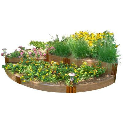 Two Inch Series 10 ft. x 10 ft. x 16.5 in. Composite English Country Garden Raised Garden Bed