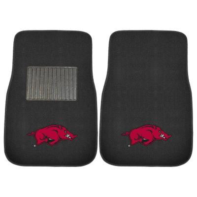 NCAA University of Arkansas 2-Piece 17 in. x 25.5 in. Carpet Embroidered Car Mat