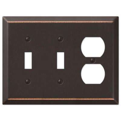 Century 2 Toggle 1 Duplex Wall Plate - Aged Bronze