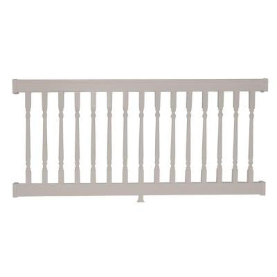 Delray 36 in. x 72 in. Vinyl Tan Colonial Straight Railing Kit