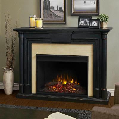 Maxwell 58 in. Grand Series Electric Fireplace in Black Wash