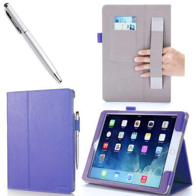 1 Fold Leather Case for iPad Air 2 - Purple