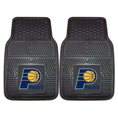 Indiana Pacers 18 in. x 27 in. 2-Piece Heavy Duty Vinyl Car Mat