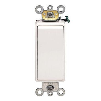 Decora Plus 15 Amp Switch - White