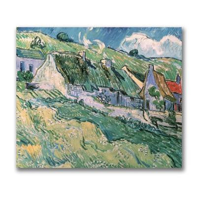 18 in. x 24 in. Cottages at Auvers-Sur-Oise Canvas Art