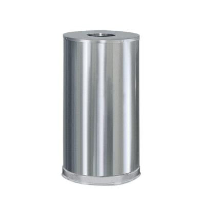 Atrium 15 Gal. Satin Stainless Steel Open Top Trash Can