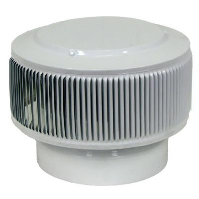 Aura PVC Vent Cap 8 in. Dia Exhaust Vent with Adapter to Fit Over 8 in. PVC Pipe in White Powder Coat