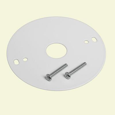 4 in. White Mounting Plate