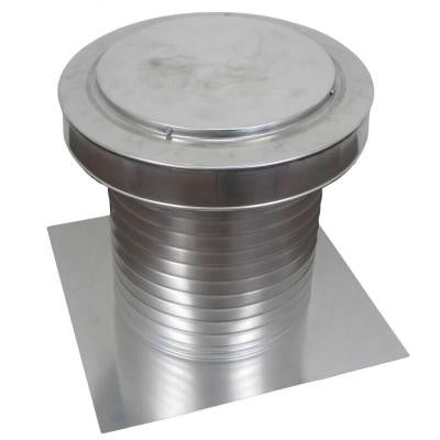 12 in. x 15 in. Aluminum Flat Roof Exhaust Static Vent in Mill Finish
