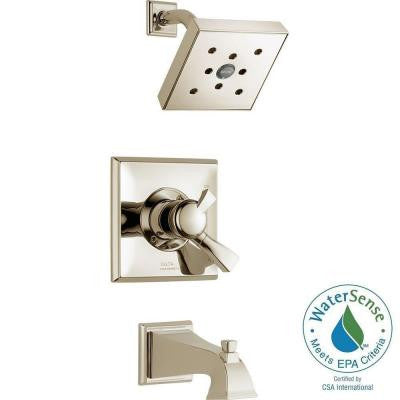 Dryden 1-Handle H2Okinetic Tub and Shower Faucet Trim Kit in Polished Nickel (Valve Not Included)