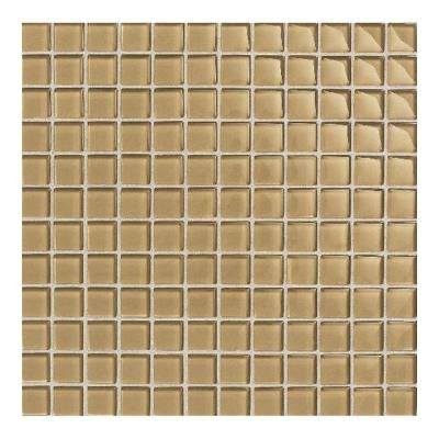 Maracas Honey Comb 12 in. x 12 in. 8mm Glass Mesh Mounted Mosaic Wall Tile