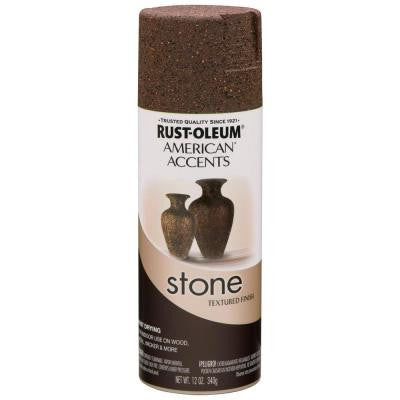 12 oz. Stone Mineral Brown Textured Finish Spray Paint (6-Pack)