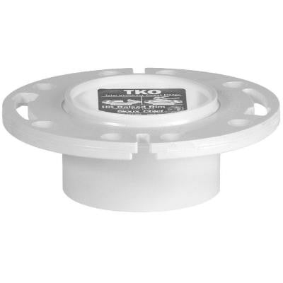 3 in. x 4 in. PVC Total Knockout Closet Flange