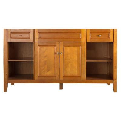 Exhibit 60 in. W x 34 in. H Vanity Cabinet Only in Rich Cinnamon