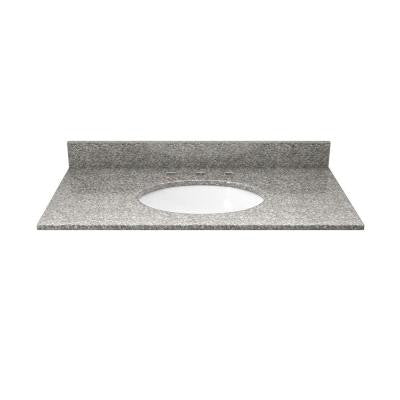 31 in. Granite Vanity Top in Burlywood with White Basin
