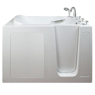 Narrow 4.42 ft. x 26 in. Walk-In Bathtub in White with Right Drain/Door
