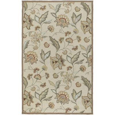 Lilium Beige 9 ft. x 12 ft. All-Weather Patio Area Rug