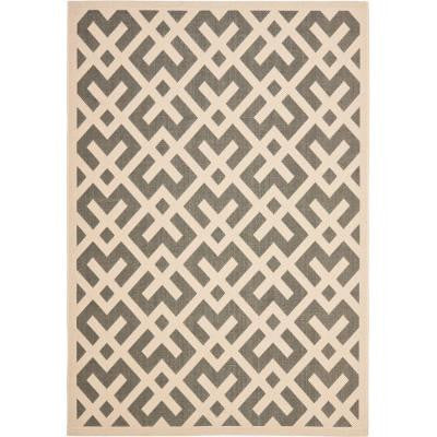 Courtyard Grey/Bone 9 ft. x 12 ft. Indoor/Outdoor Area Rug