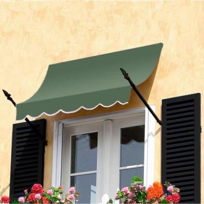10 ft. New Orleans Awning (56 in. H x 32 in. D) in Sage
