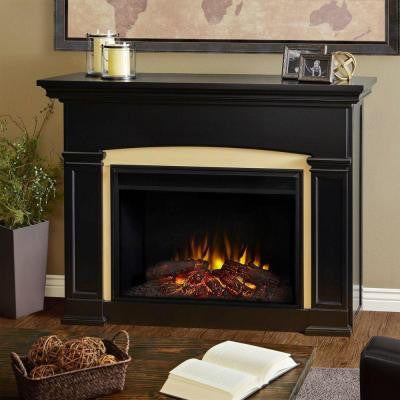 Holbrook 59 in. Grand Series Electric Fireplace in Black