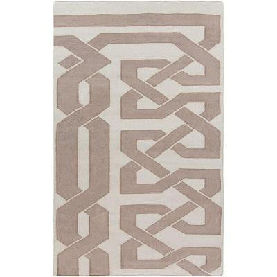 Alameda Taupe 5 ft. x 8 ft. Indoor Area Rug