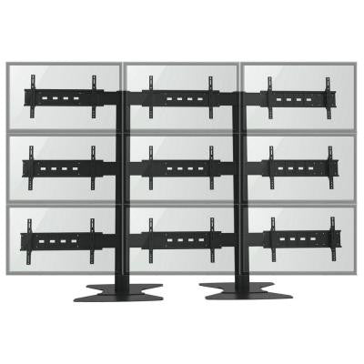 TV Wall for Nine 30 in. to 60 in. Flat Panel TV